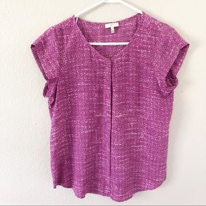 Joie short sleeve cap sleeve purple blouse